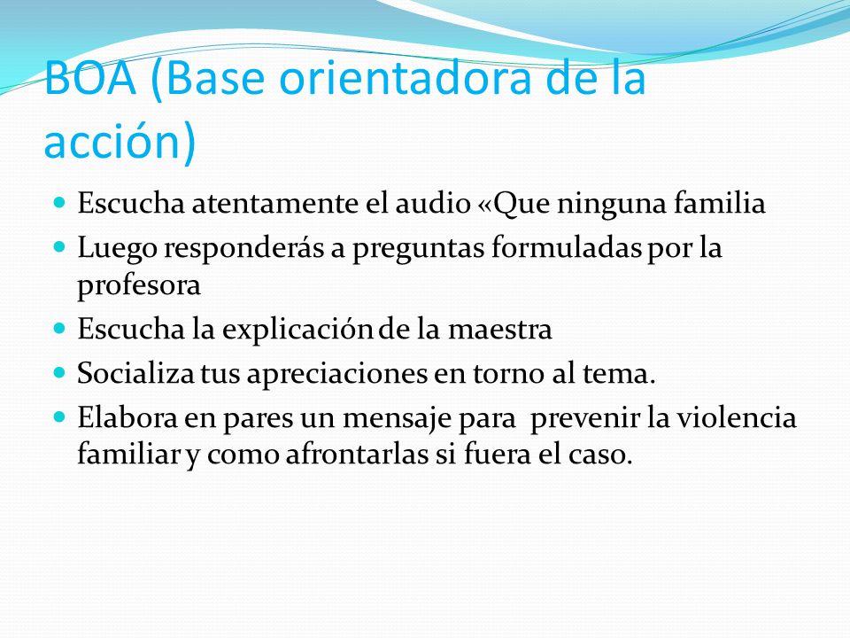 BOA (Base orientadora de la acción)
