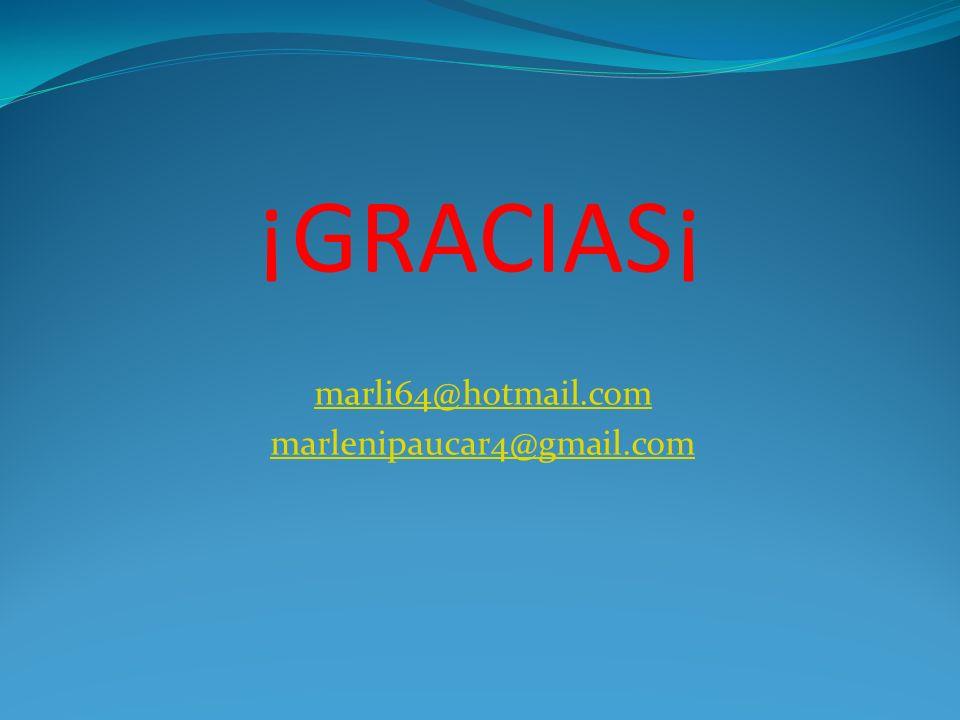 marli64@hotmail.com marlenipaucar4@gmail.com
