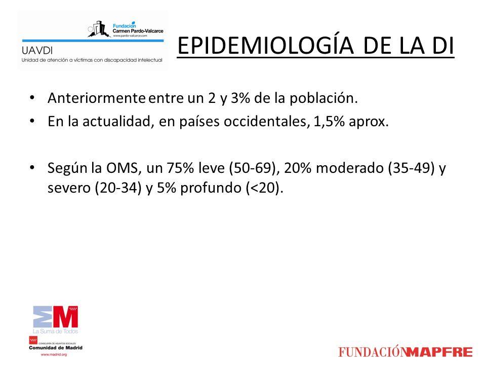 EPIDEMIOLOGÍA DE LA DI Anteriormente entre un 2 y 3% de la población.