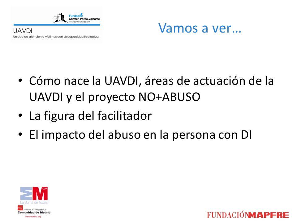 Vamos a ver… Cómo nace la UAVDI, áreas de actuación de la UAVDI y el proyecto NO+ABUSO. La figura del facilitador.