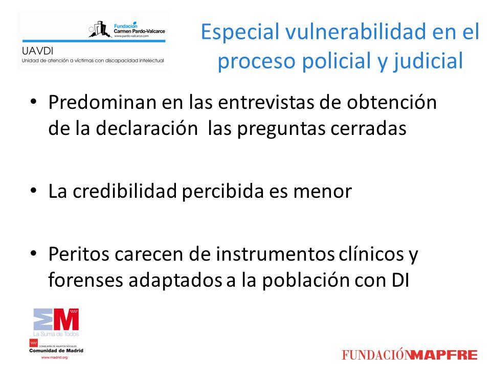 Especial vulnerabilidad en el proceso policial y judicial