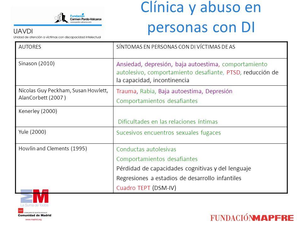 Clínica y abuso en personas con DI