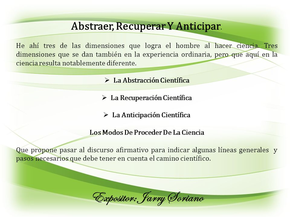 Expositor: Jarry Soriano