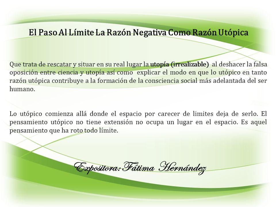 Expositora: Fátima Hernández