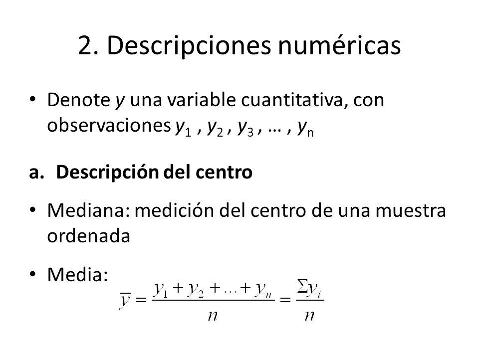2. Descripciones numéricas