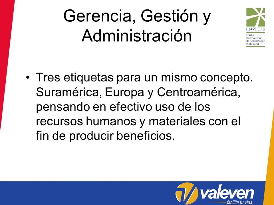 Gerencia, Gestión y Administración