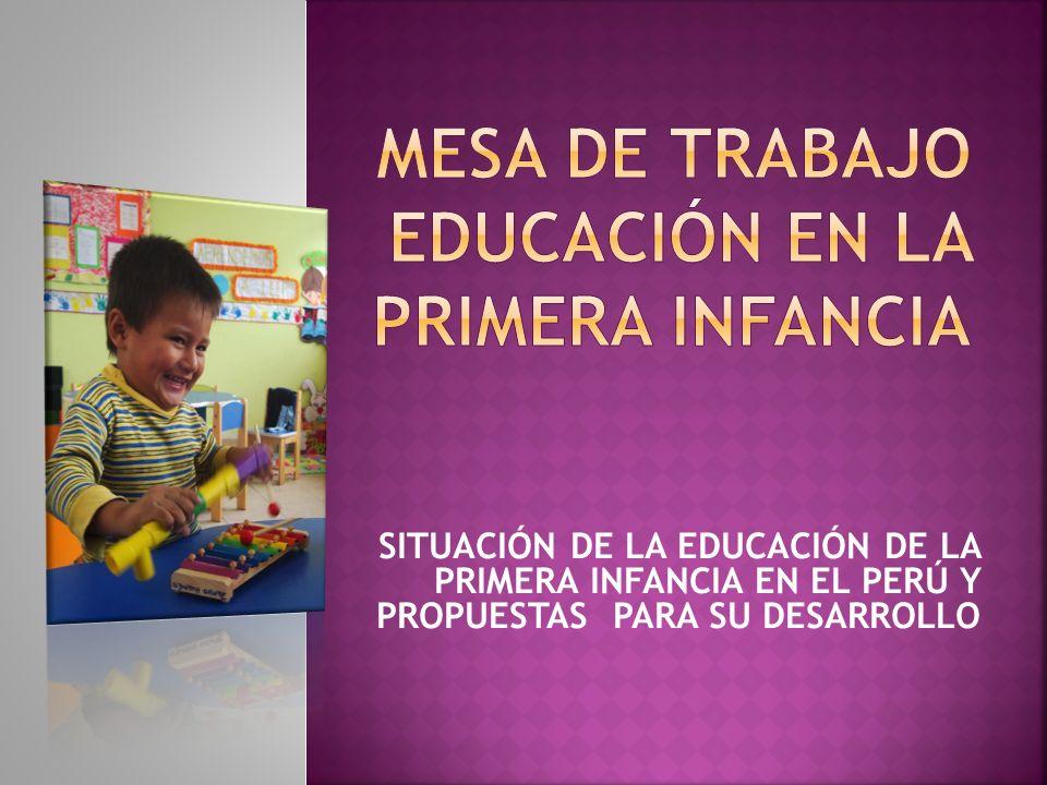 MESA DE TRABAJO EDUCACIÓN EN LA PRIMERA INFANCIA