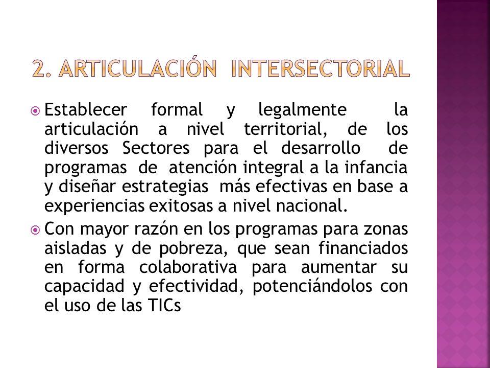 2. ARTICULACIÓN INTERSECTORIAL