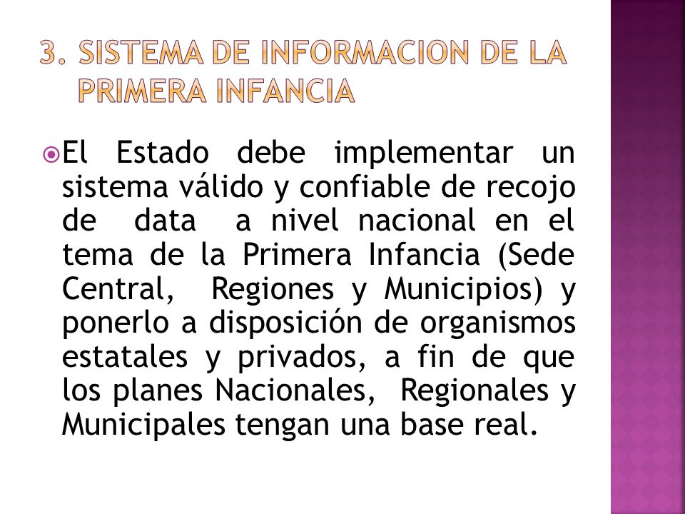 3. SISTEMA DE INFORMACION DE LA PRIMERA INFANCIA