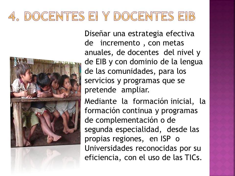 4. DOCENTES EI Y DOCENTES EIB