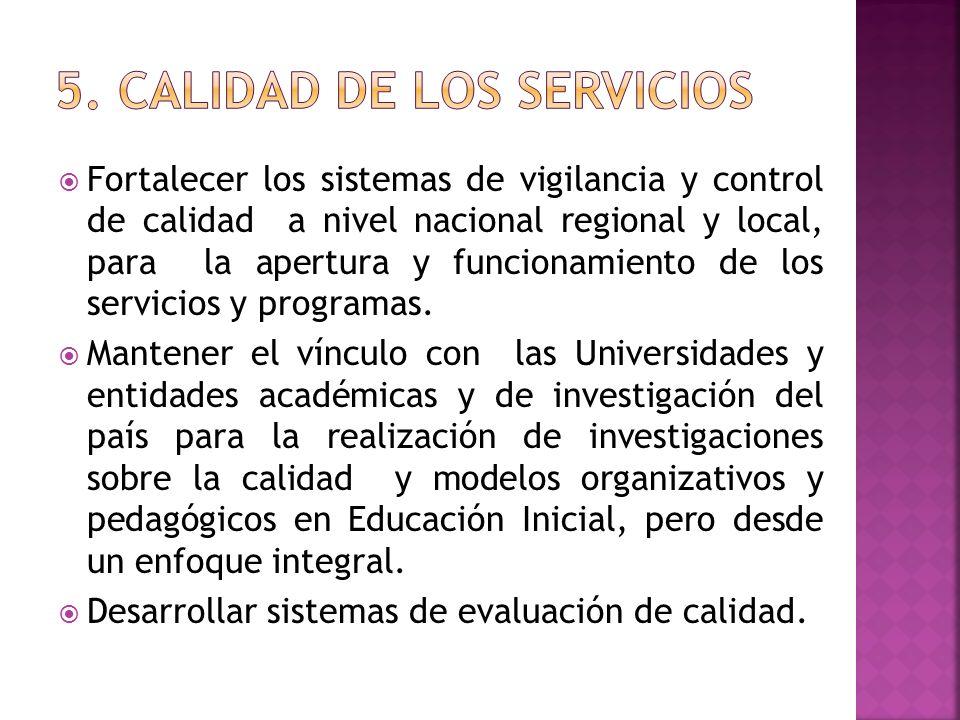 5. CALIDAD DE LOS SERVICIOS