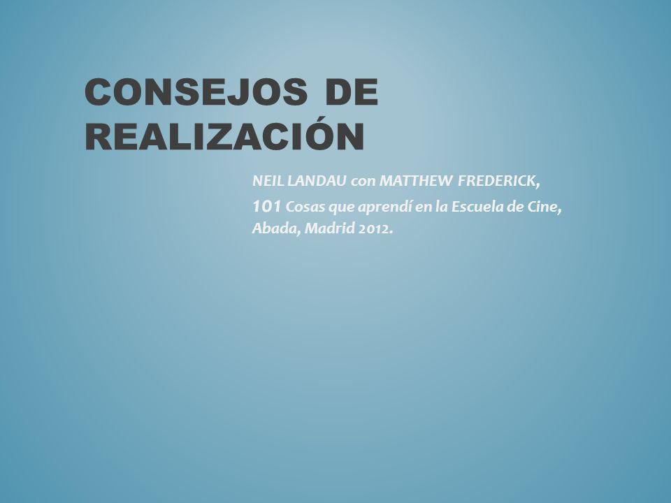 CONSEJOS DE REALIZACIÓN