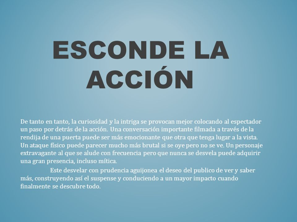 Esconde la acción