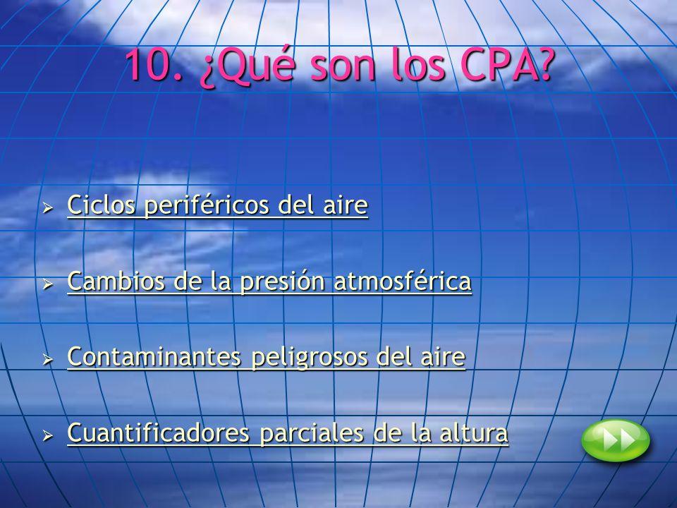 10. ¿Qué son los CPA Ciclos periféricos del aire