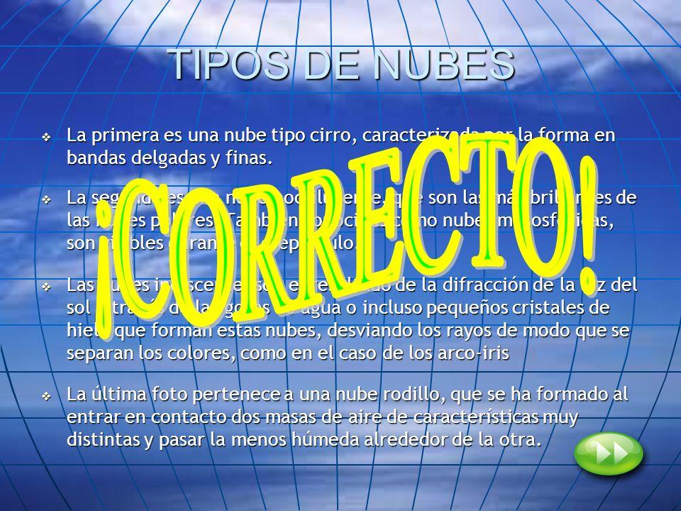 TIPOS DE NUBES ¡CORRECTO!