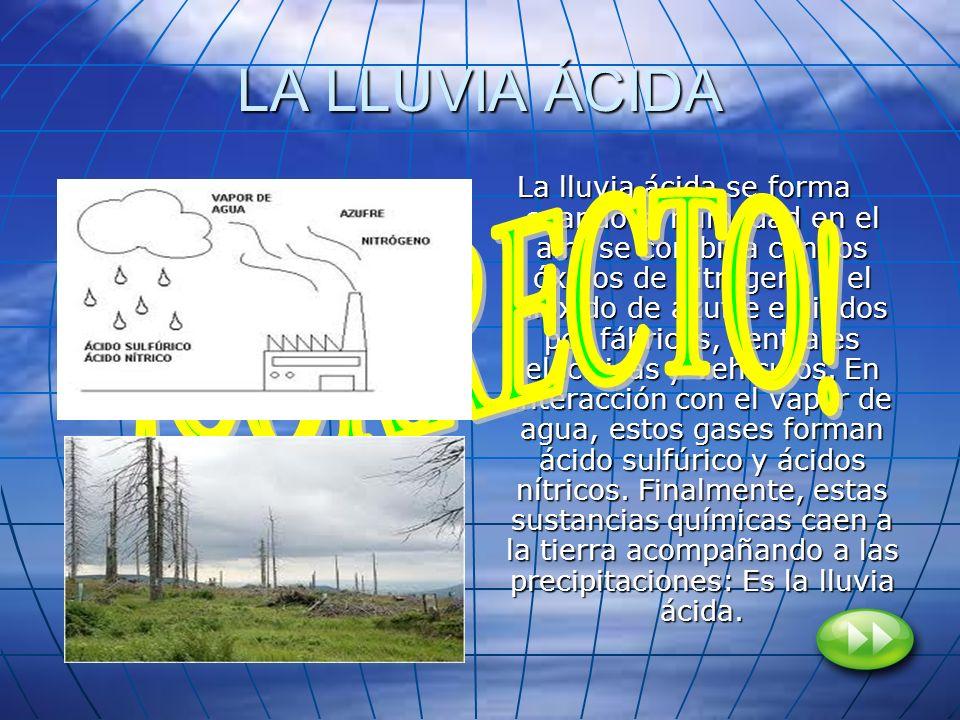 LA LLUVIA ÁCIDA ¡CORRECTO!