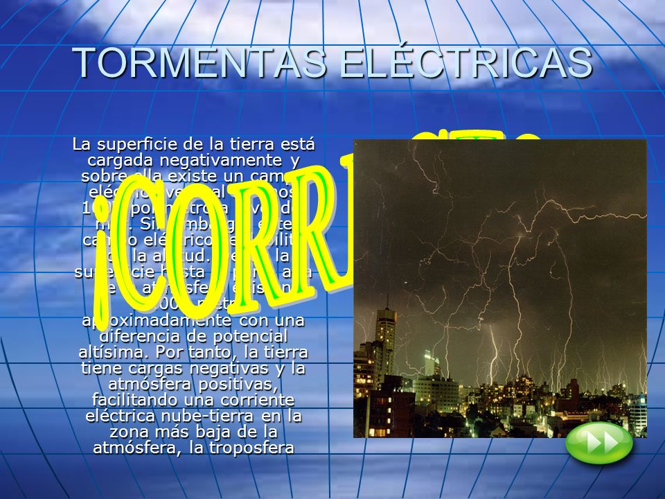 TORMENTAS ELÉCTRICAS ¡CORRECTO!