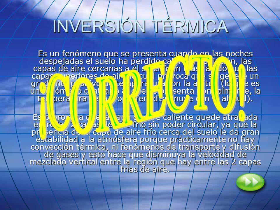 INVERSIÓN TÉRMICA ¡CORRECTO!