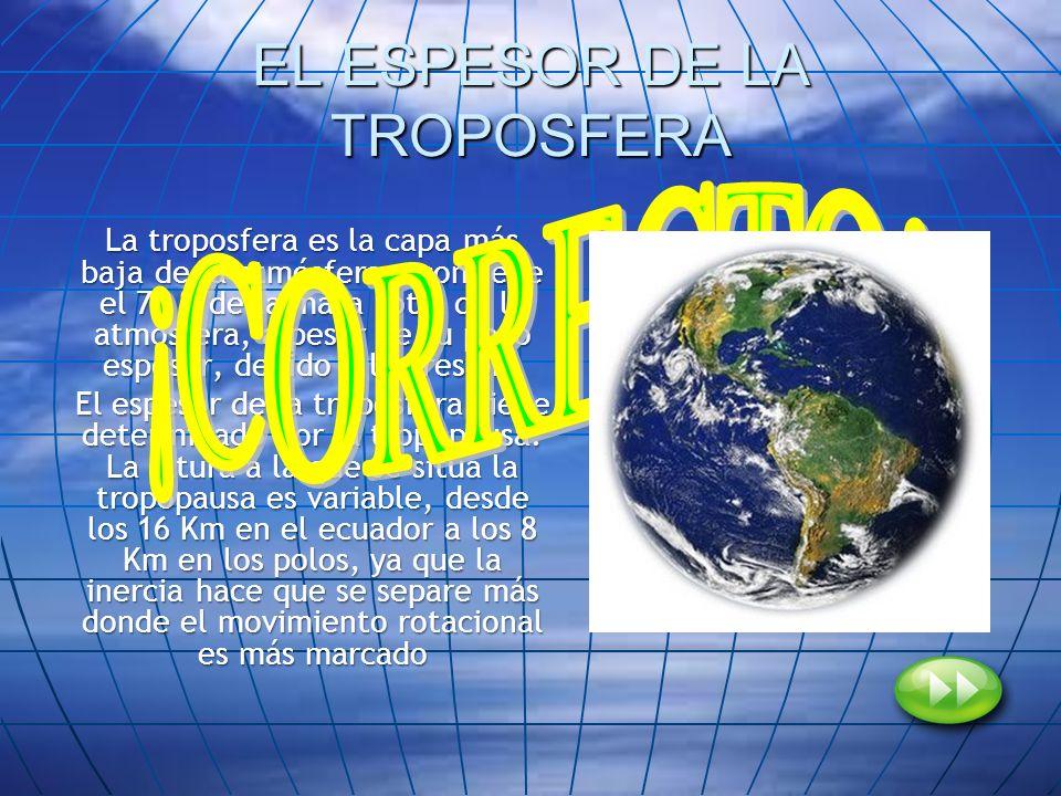 EL ESPESOR DE LA TROPOSFERA