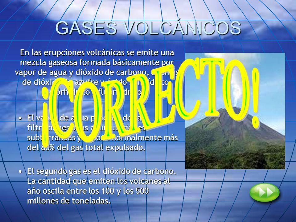 GASES VOLCÁNICOS ¡CORRECTO!
