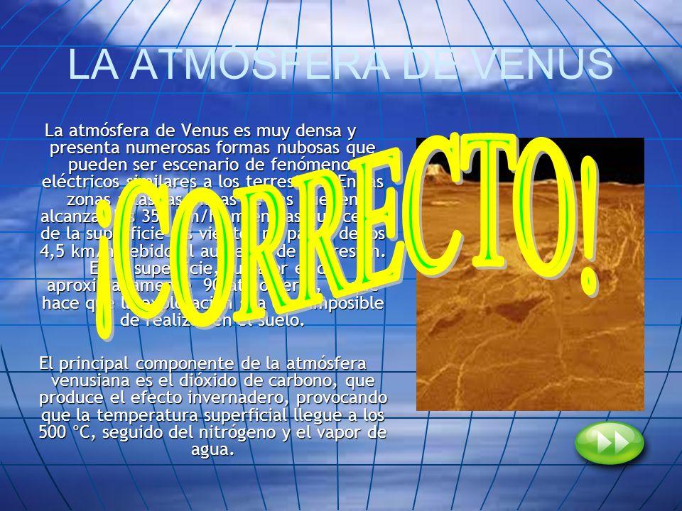 LA ATMÓSFERA DE VENUS ¡CORRECTO!