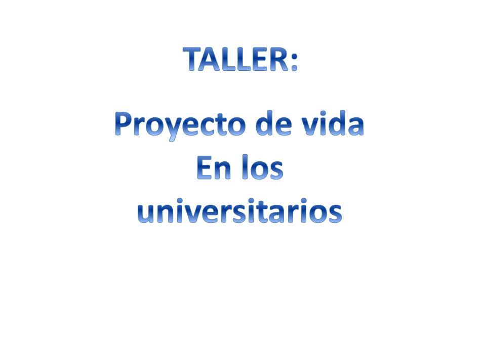 TALLER: Proyecto de vida En los universitarios