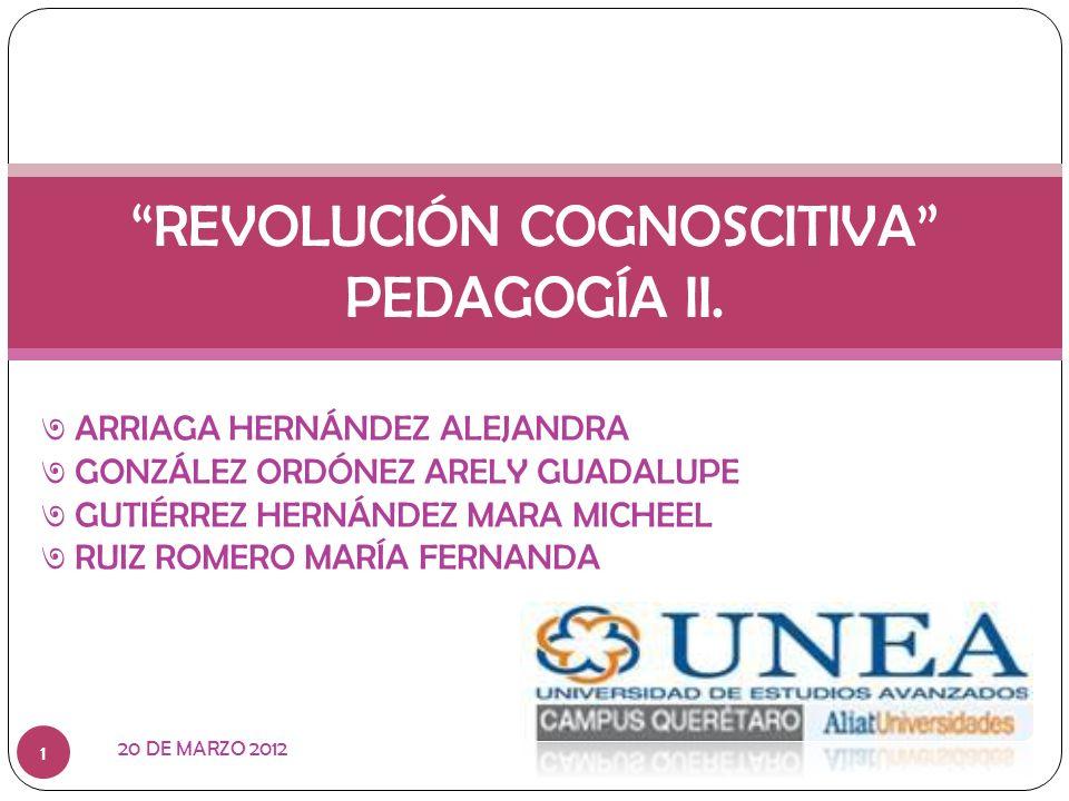 REVOLUCIÓN COGNOSCITIVA PEDAGOGÍA II.