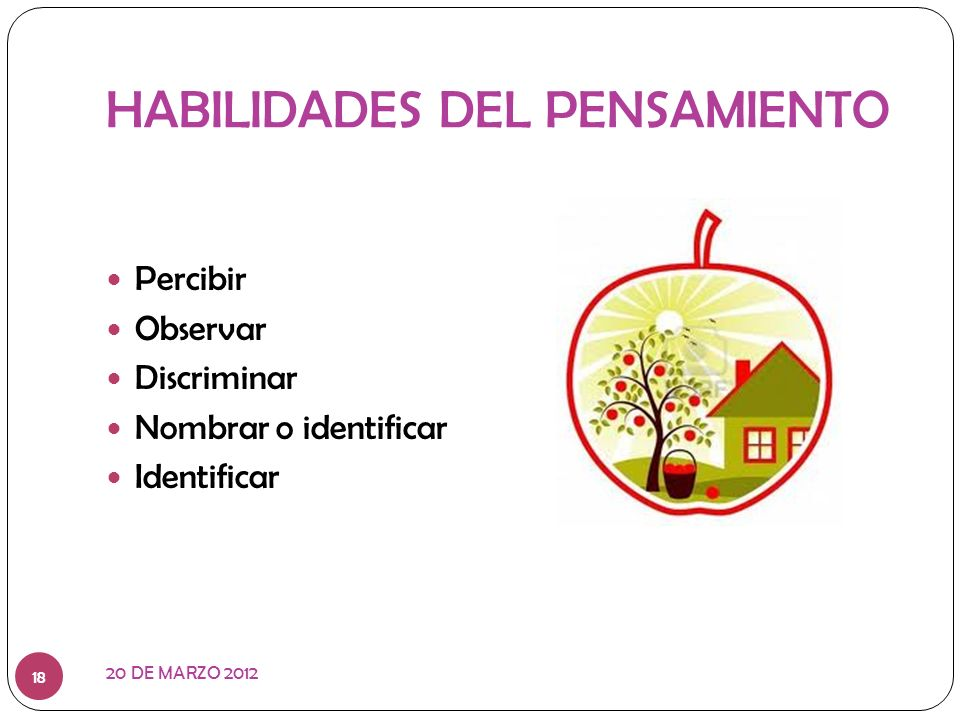 HABILIDADES DEL PENSAMIENTO