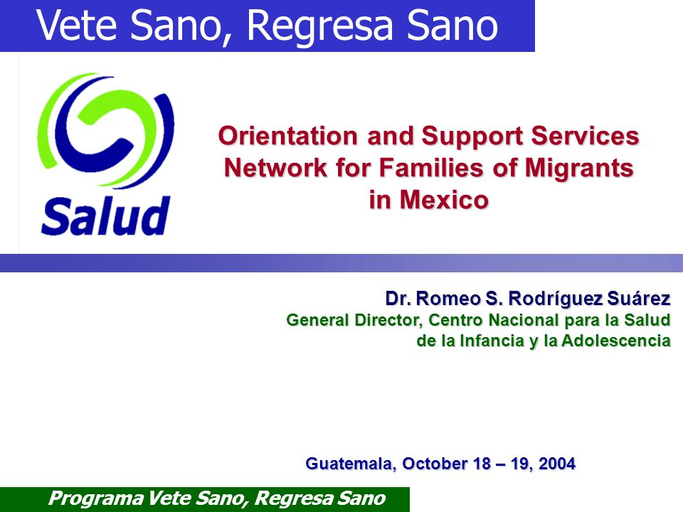 Orientation and Support Services Network for Families of Migrants