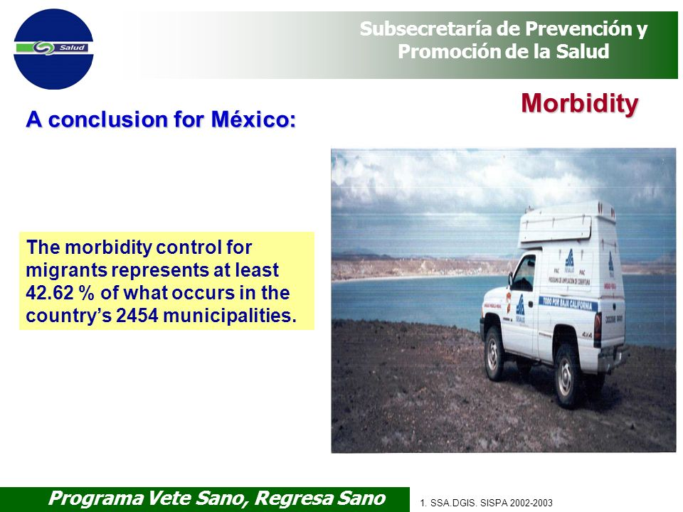 Morbidity A conclusion for México: