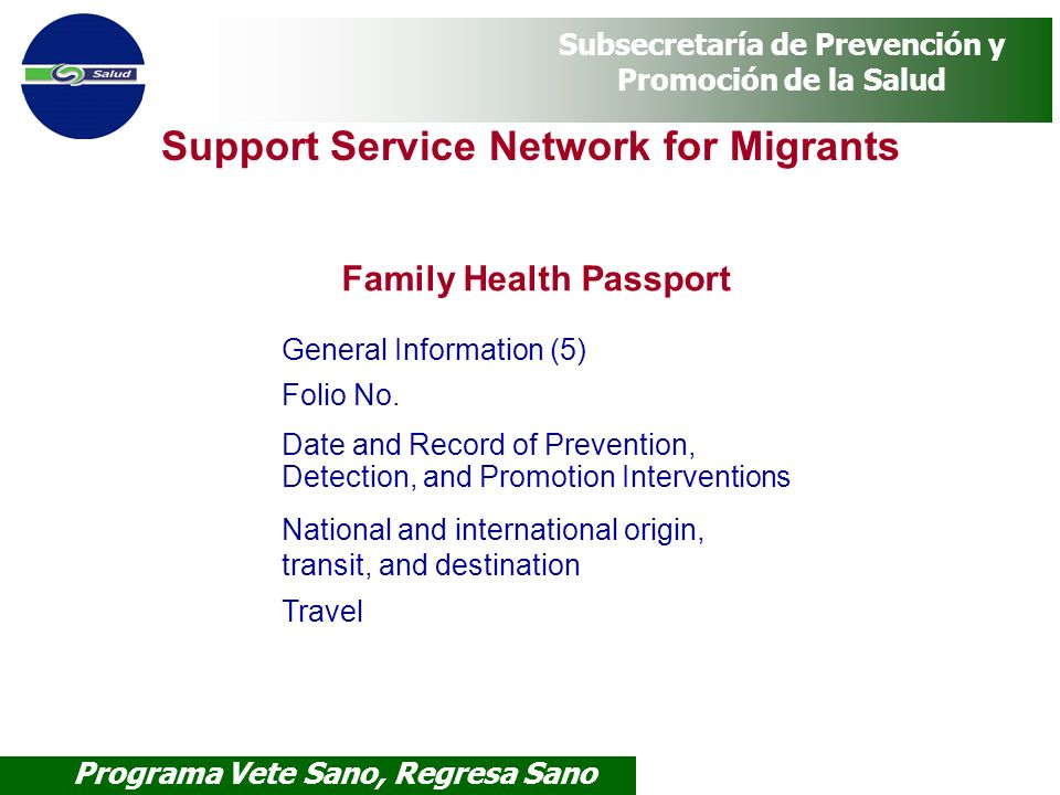 Family Health Passport
