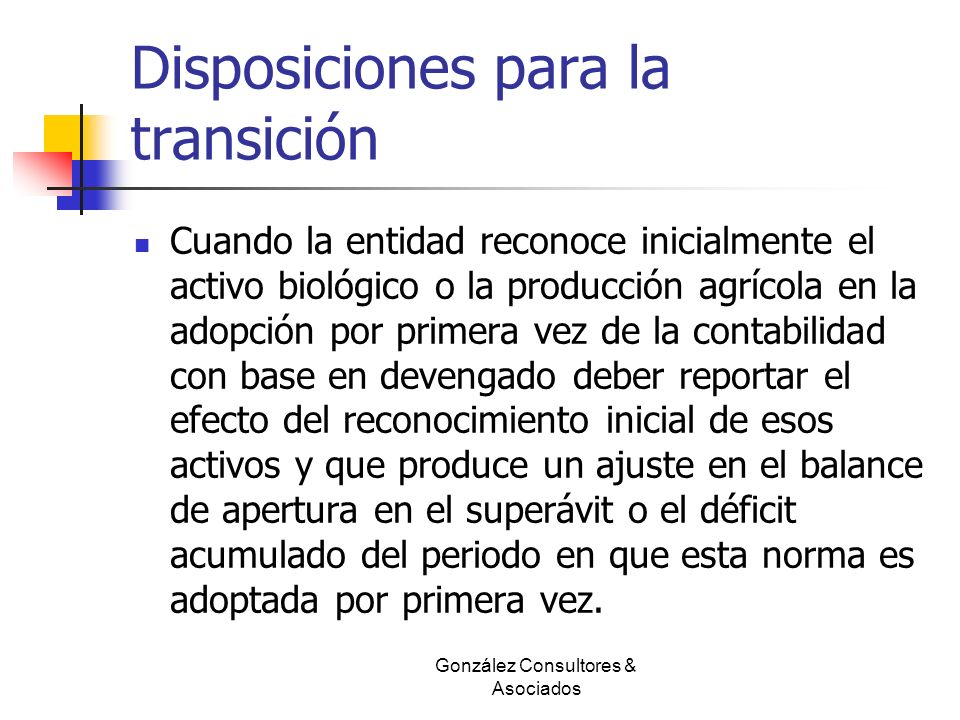 Disposiciones para la transición