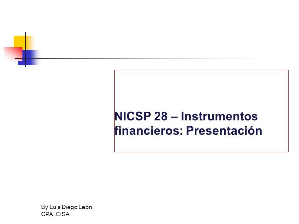 NICSP 28 – Instrumentos financieros: Presentación