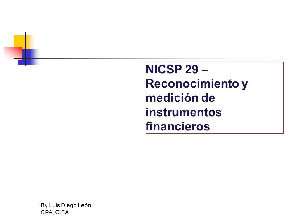 NICSP 29 – Reconocimiento y medición de instrumentos financieros