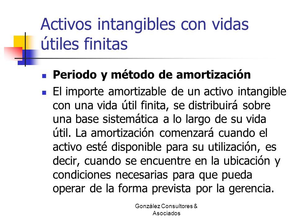 Activos intangibles con vidas útiles finitas