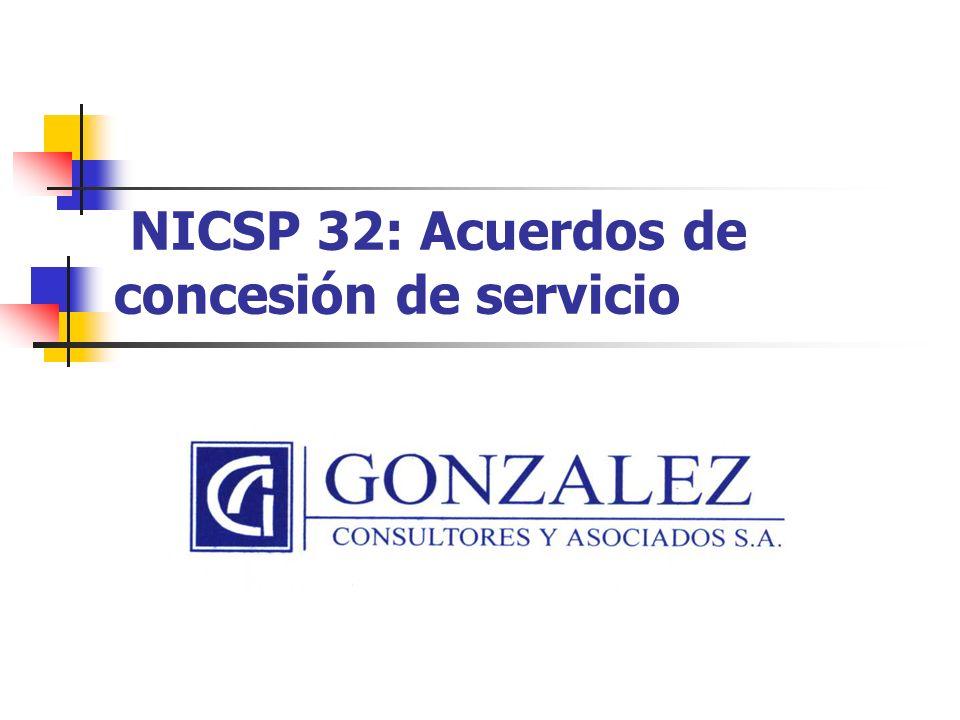 NICSP 32: Acuerdos de concesión de servicio