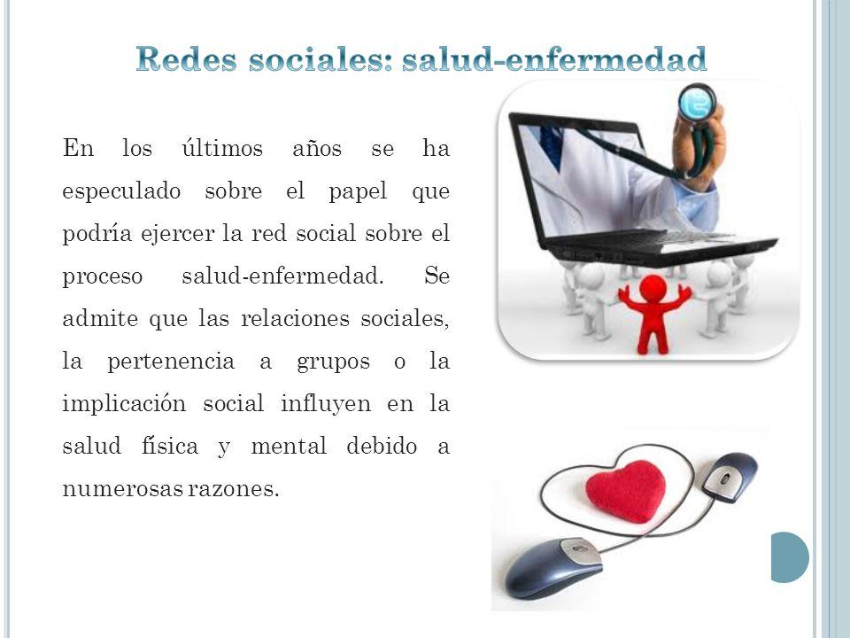 Redes sociales: salud-enfermedad