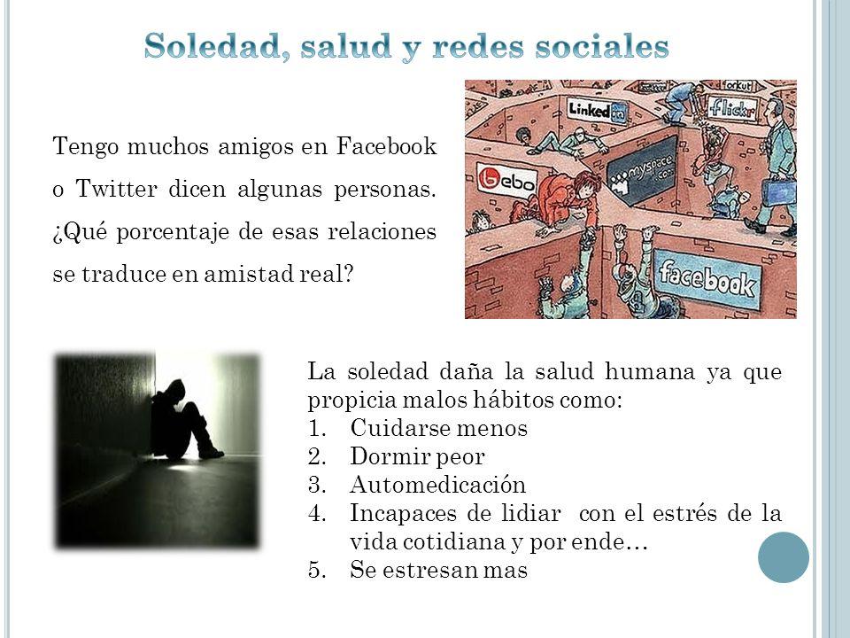 Soledad, salud y redes sociales