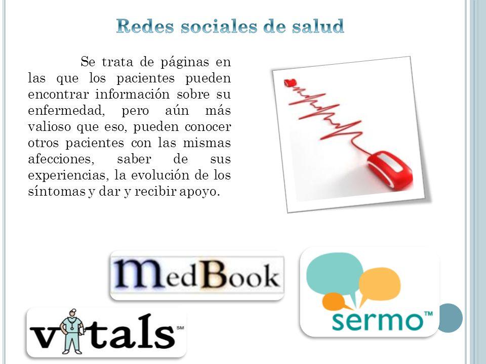 Redes sociales de salud