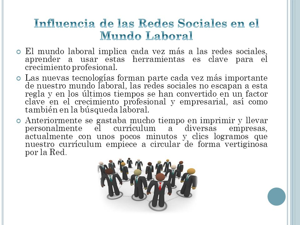 Influencia de las Redes Sociales en el Mundo Laboral