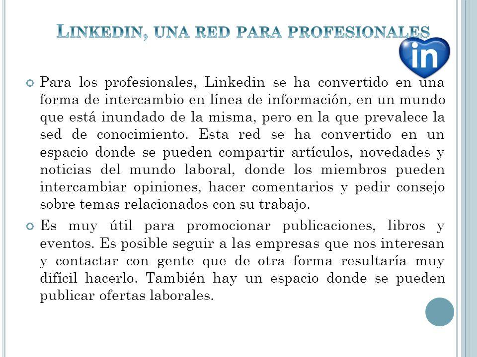 Linkedin, una red para profesionales