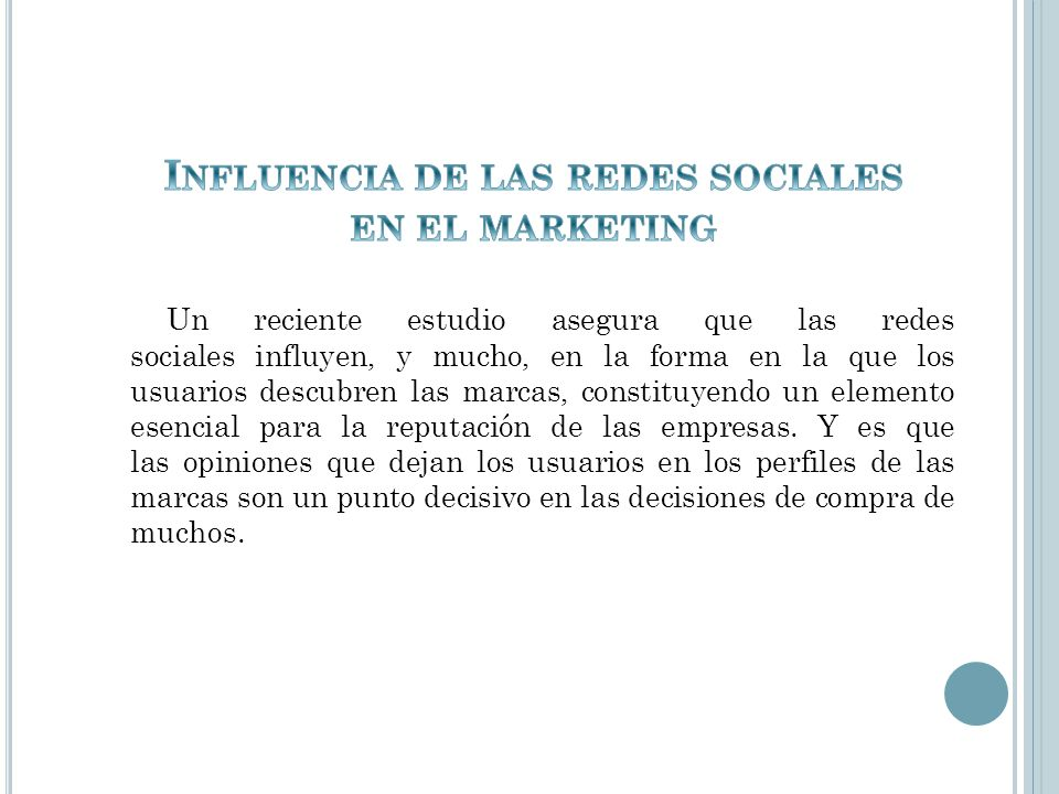 Influencia de las redes sociales en el marketing