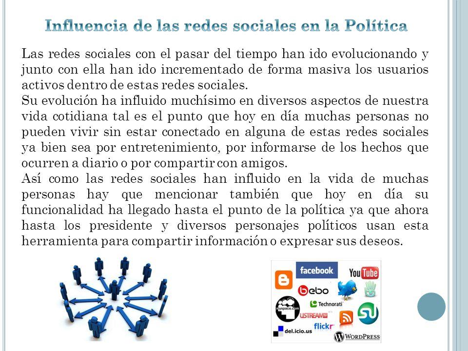 Influencia de las redes sociales en la Política