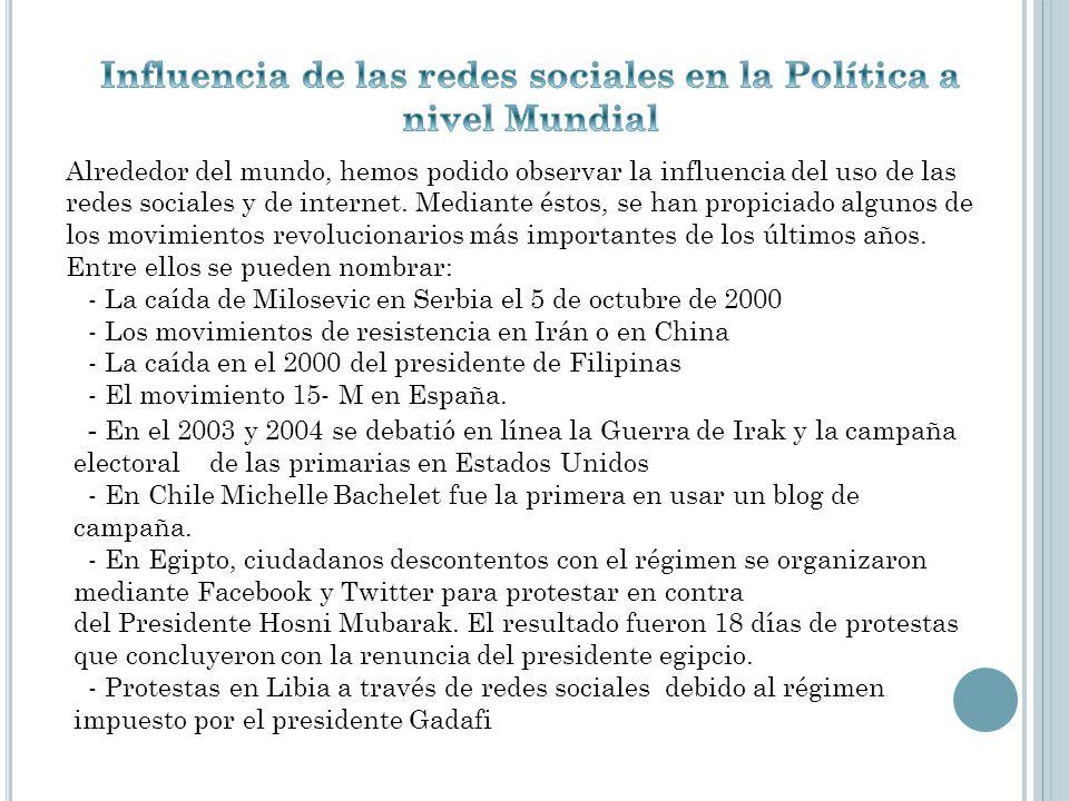 Influencia de las redes sociales en la Política a nivel Mundial
