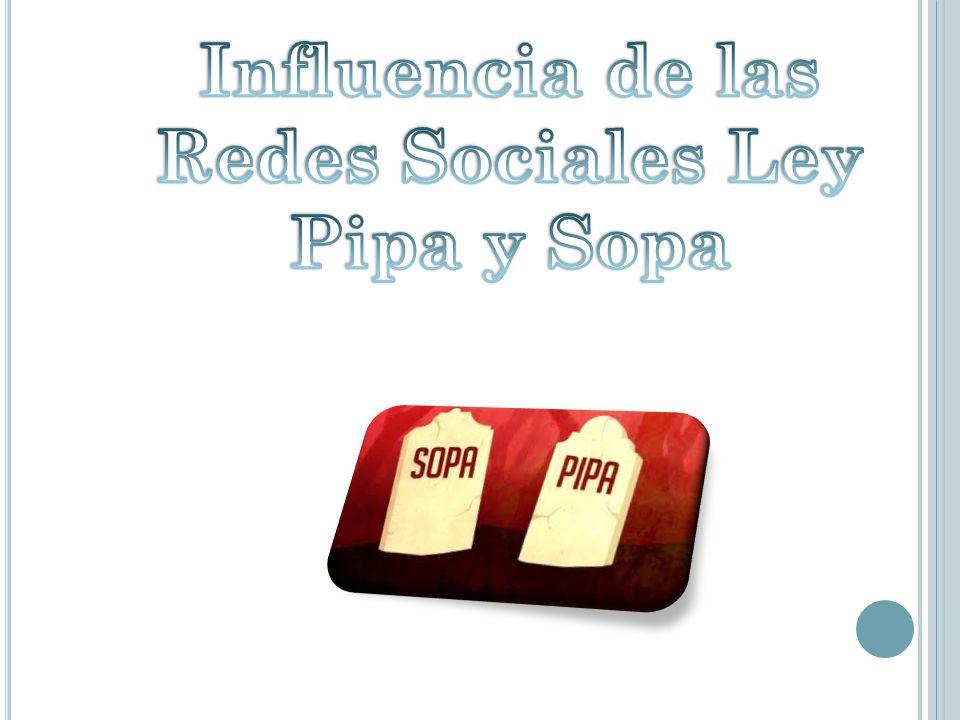 Redes Sociales Ley Pipa y Sopa