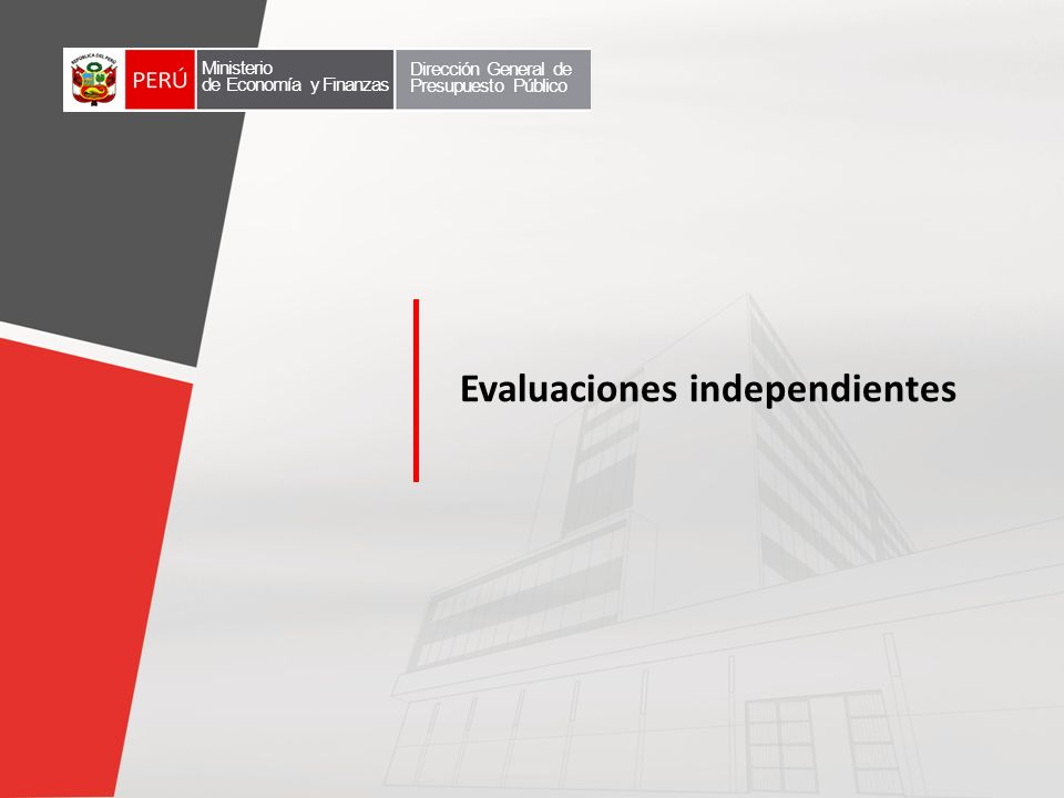 Evaluaciones independientes