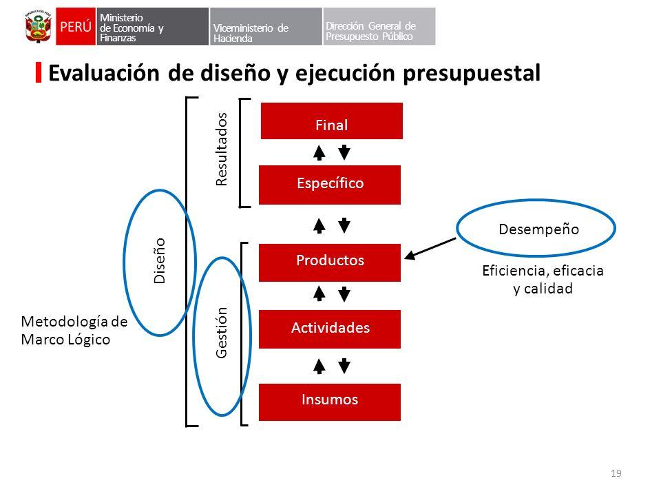 Evaluación de diseño y ejecución presupuestal