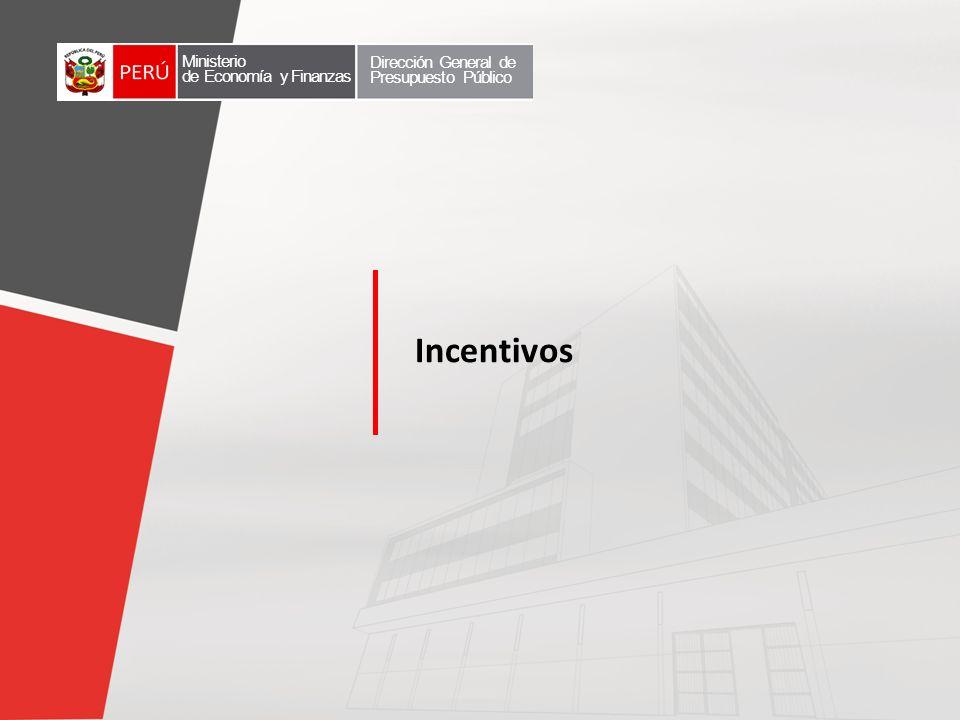 Incentivos Ministerio Dirección General de Presupuesto Público
