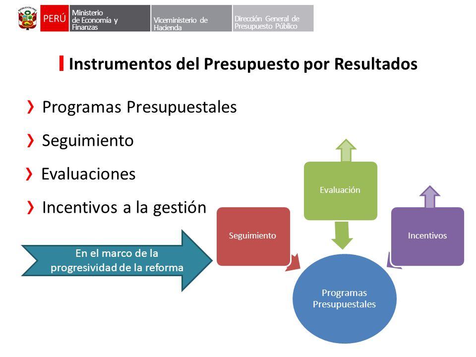 Instrumentos del Presupuesto por Resultados