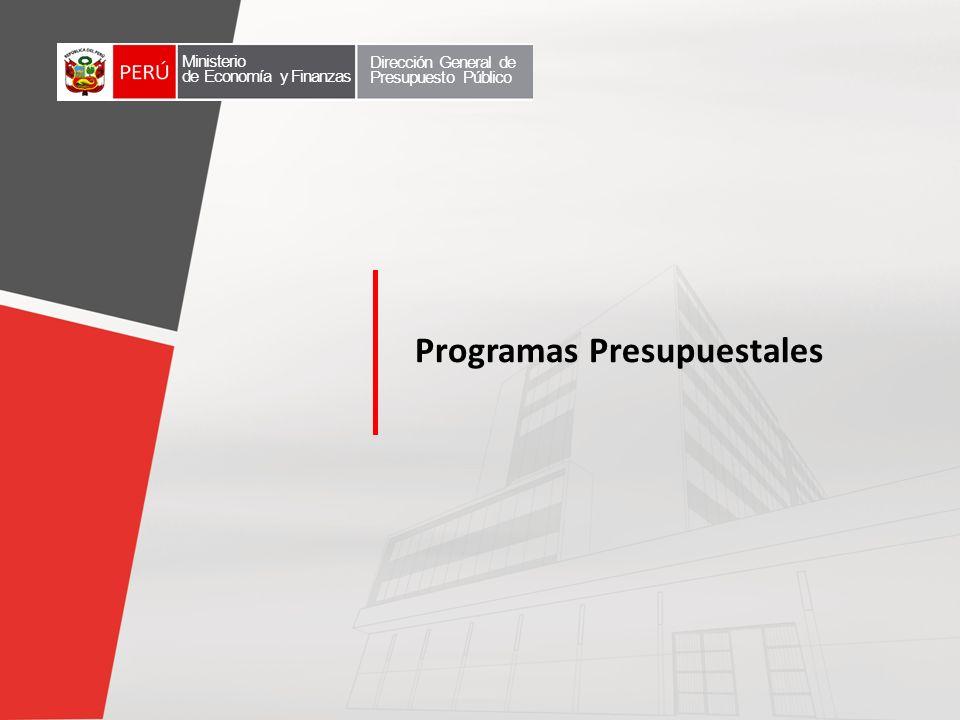 Programas Presupuestales